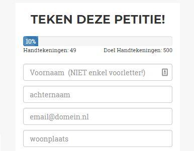 Teken de Online Petitie