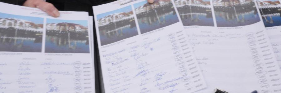 Vrienden van de Rembrandtbrug halen ruim 400 handtekeningen op