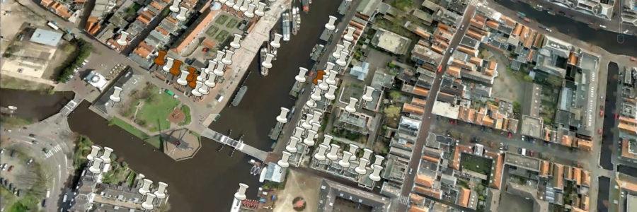 Animatie: buurtpeiling kleur Rembrandtbrug