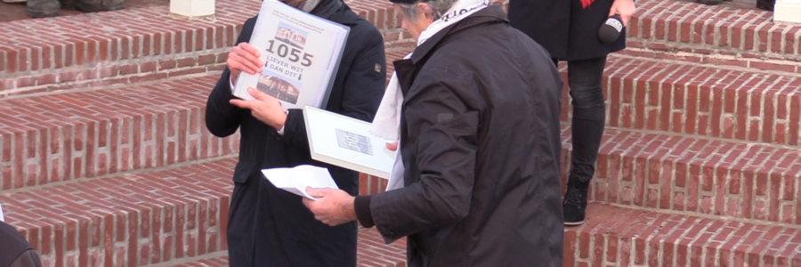 1.055 handtekeningen en 3 P's voor de wethouder